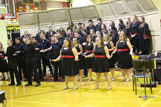 Band, choir host first concert
