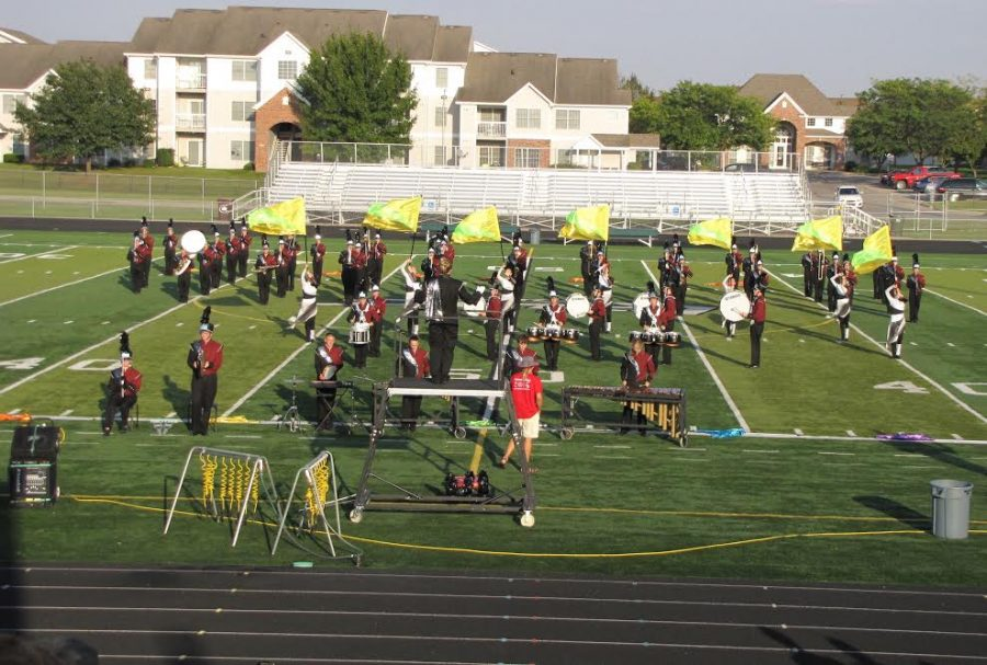Marching+Mustangs+place+second+in+Pella