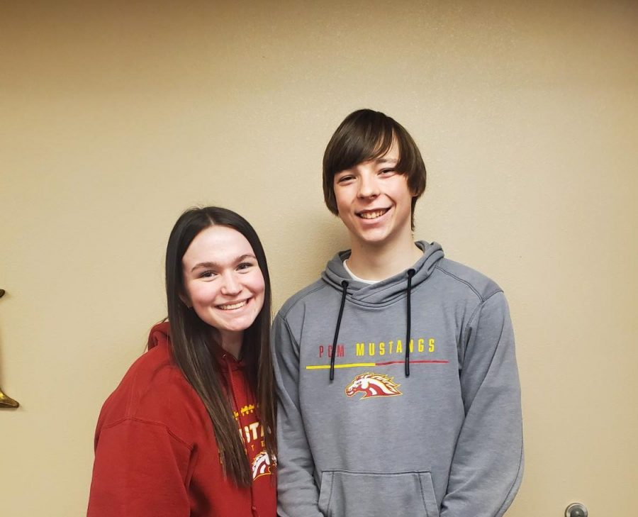 Abby Van Ryswyk (Left) and Carson Duinink (Right)