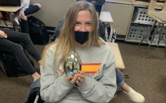 Junior Emily Foster shows her Easter spirit at PCM. Easter takes place on Sunday, April 4.