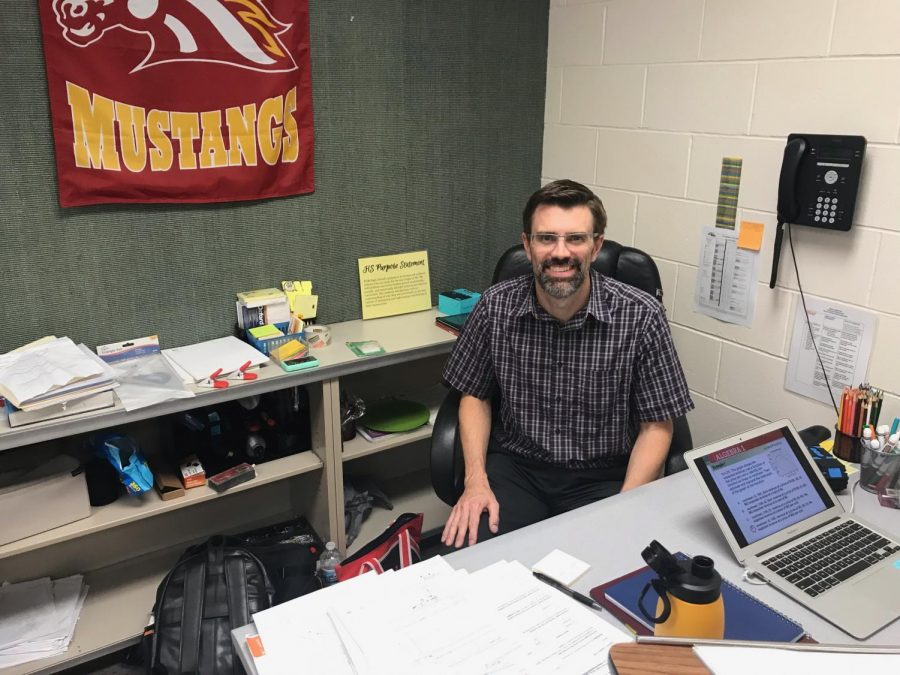 Jeremy West is one of the new staff members at PCM. He has a practical teaching style and is excited for this new opportunity. The teacher before him was Trey Thompson, who left PCM for Winterset to teach higher level math classes.